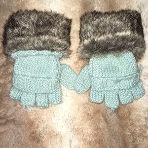 Gap Kids Faux Fur-cuff mittens